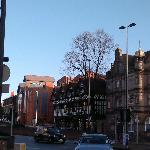 View from Foregate Street/City Road roundabout and car space + front entrance