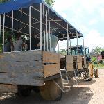 il trattore per arrivare con la bassa