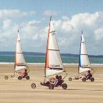 Micro Land Yachts on the beach