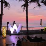 Sunset at Woo Bar, The W.
