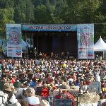 Deer Lake Park's natural amphitheatre is the perfect setting for an outdoor concert.