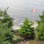 ... auf dieser herrlich gelegenen Terrasse direkt am Meer