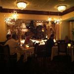 small dinning area inside Salvatore's HUGE restaurant