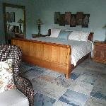 The king size bed in Suite Mama Blue (and the All Together Suite)
