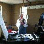 Printing press demonstration