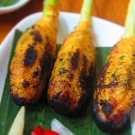 "balinese satay style ""sate lilit"" usually with Tuna"