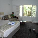 Our room, which over looked the pool and the al fresco dinning area