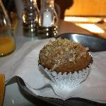 Delicious, warm homemade muffin...