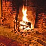 Our Comfy Fireplace Roaring To Life Every Night
