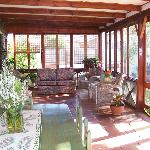 Enclosed veranda where breakfast is served