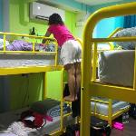Beds are double bunks and really comfy :)