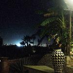 Night time view from the restaurant towards San Jose del Cabo.