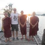 Me with monks.