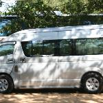 VIP Van with experienced driver to care us during tour to Tiger Temple Tour