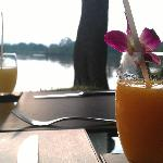 Fresh drinks and beautiful view