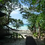 View of beach from outside our fare