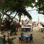 beach restaurant in the early morning