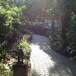 Garden path to restaurant, pool and beach