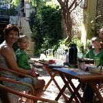 Breakfast in the garden at Colonia Suite