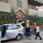 It was safe to park a private car on the street in front of the hotel