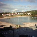 Vista de la playa de Portonovo desde las habitaciones del hotel