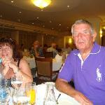 David and Jane at dinner