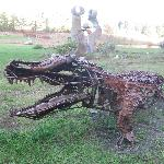 Caiman sculpture