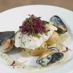 Halibut with Mussels