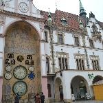 Exterior of the part of the building with Clock
