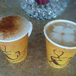 Lattes from coffee shop