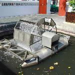 King Bhumibol's patented channel aerator at work at Wat Boworniwet