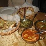 Palak Paneer, Dahl and Butter Chicken.
