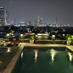 Swimming pool at 6th floor with panoramic view of the city