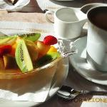 fruit and coffee, €18.