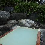 かけ流しの露天風呂