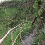 way to the bottom of the dam, which destroyed during 2010 Merapi eruption.