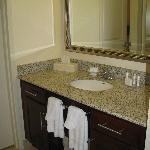 Bathroom Vanity of King Room (Shower & toilet were in a separate room, just beyond vanity)