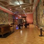 Room with ancient flemish tapestries
