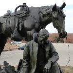 Outdoor sculpture at the Woolaroc Museum and Wildlife Preserve
