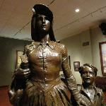 Pioneer Woman sculpture in Woolaroc Museum