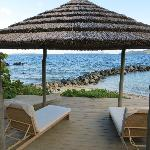 great cabanas on the beach, exellent place for a massage