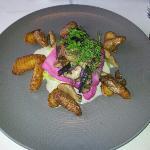 Hechtfilet mit Pilzen und Bratkartoffeln