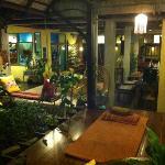 lounge area looking onto reception/garden etc