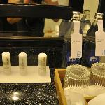 Meridien amenities and complimentary water
