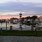 Sunset over Harbour Town, SeaPines