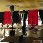 Terraza con cortinas eventos