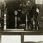 Black & white View of our Bar