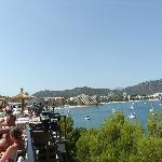 View looking over Palma Nova from terrace