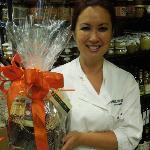 Jena with a custom gift basket