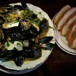 Shellfish with homemade lepinja (Bosnian style flatbread, homemade of course...)